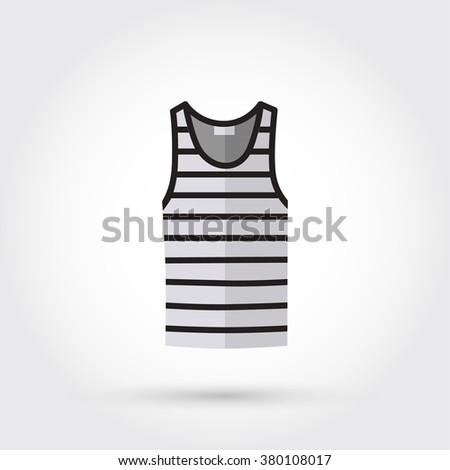 Blank singlet template - front and back - stock vector