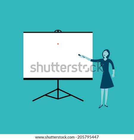 Blank Slide Show - stock vector