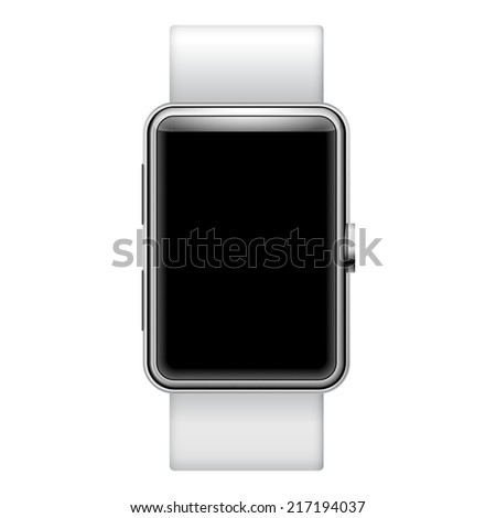 Blank Smartwatch Ilustration with place for your text isolated on white background - stock vector