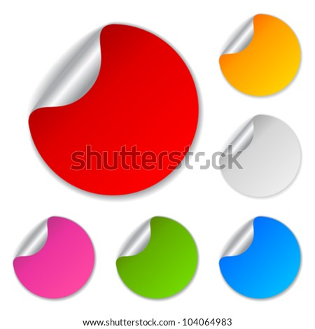 Blank stickers collection, vector illustration - stock vector