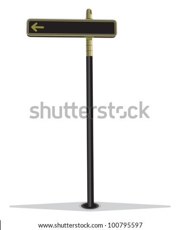 Blank street sign - stock vector