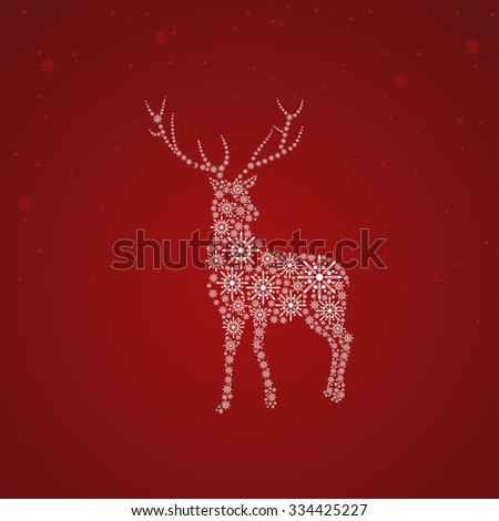 Blank template for cover, background or card design with Christmas theme - stock vector