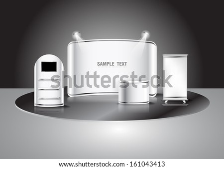 blank trade show booth, illustration Vector  - stock vector