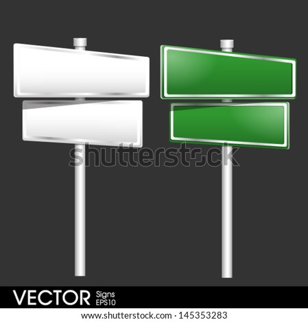 Blank traffic road sign - stock vector