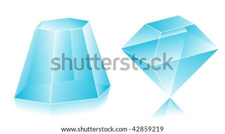Blank translucent 3d shapes design illustration - stock vector