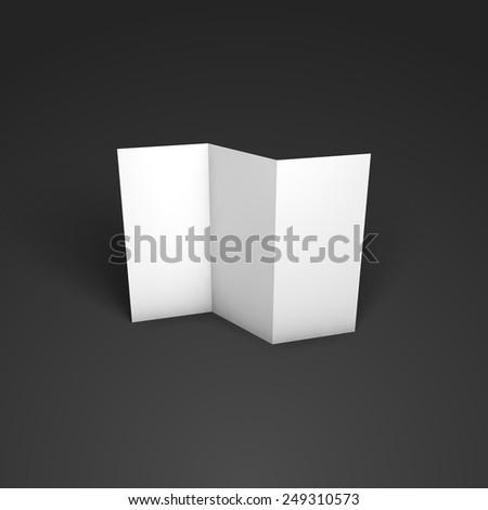 Blank trifold paper brochure mockup. Vector Illustration EPS10 - stock vector