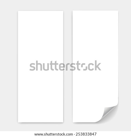 Blank trifold paper sheet vector with page curl - stock vector