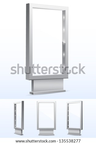 Blank vector billboards. - stock vector