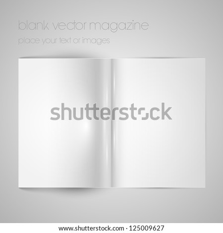 Blank vector magazine paper - stock vector