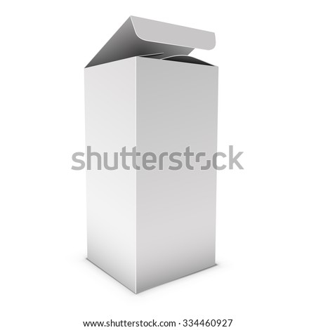 Blank vertical box vector template. - stock vector