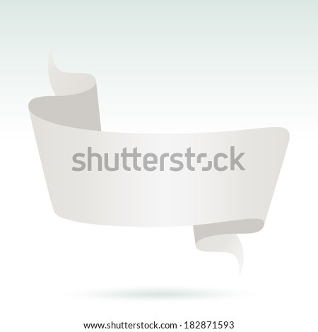 Blank White Advertising Banner. vector - stock vector