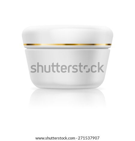 Blank white cream or gel isolated on a white background - stock vector
