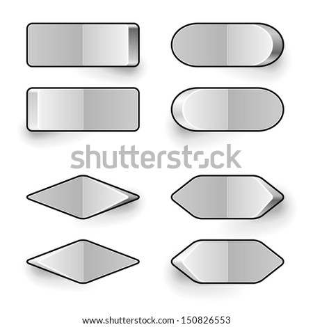 Blank white toggle switch vector template. - stock vector