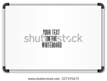Blank whiteboard - stock vector