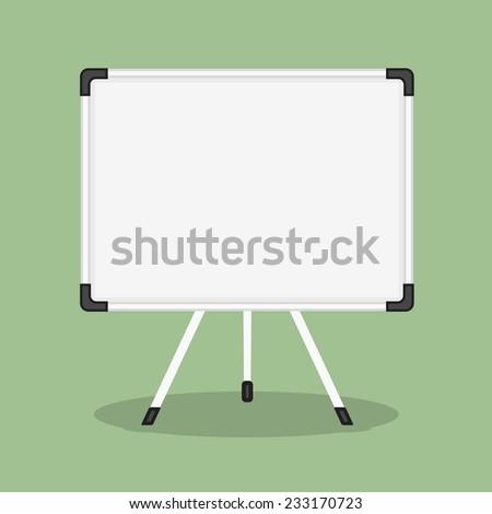 Blank whiteboard, flat design, vector eps10 illustration - stock vector