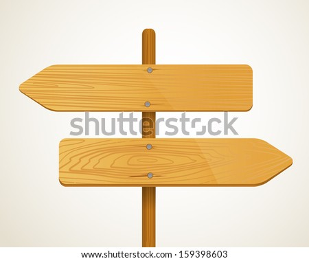 Blank Wood arrow boarders. Template for a text  - stock vector