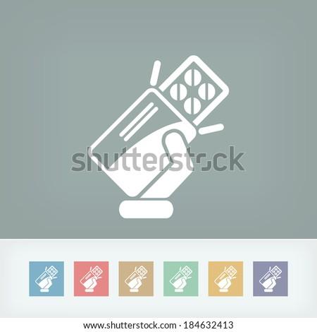 Blister packs of pills - stock vector