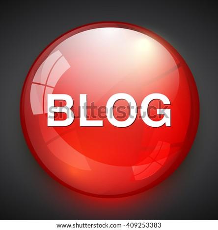 blog icon - stock vector