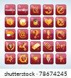 blog icon set - stock vector