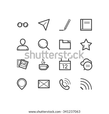 Blog icons. Blog and social media icons. design icons. - stock vector