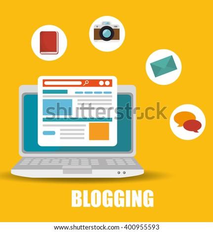blog management  design  - stock vector