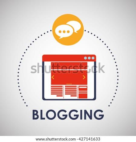 Blogging design. social media icon. Isolated illustration - stock vector