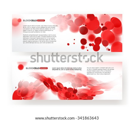 Blood cells medical banners - stock vector