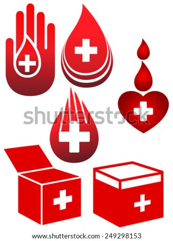 blood donation - stock vector