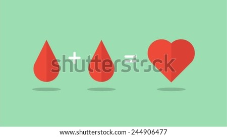 blood donation saves lives, vector illustration - stock vector