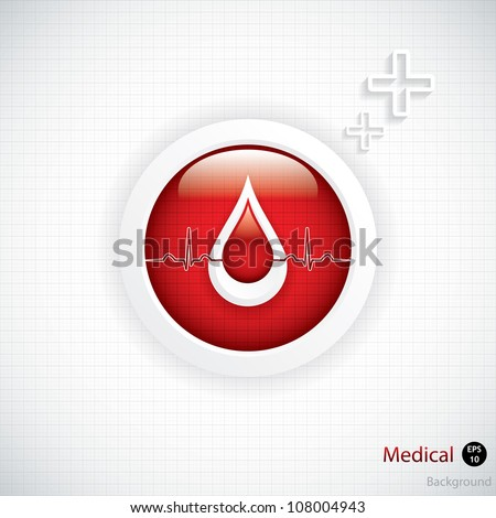 Blood donation vector.Medical background - stock vector