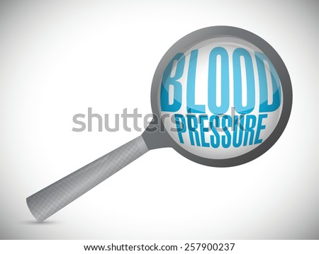 blood pressure magnify glass illustration design over white background - stock vector