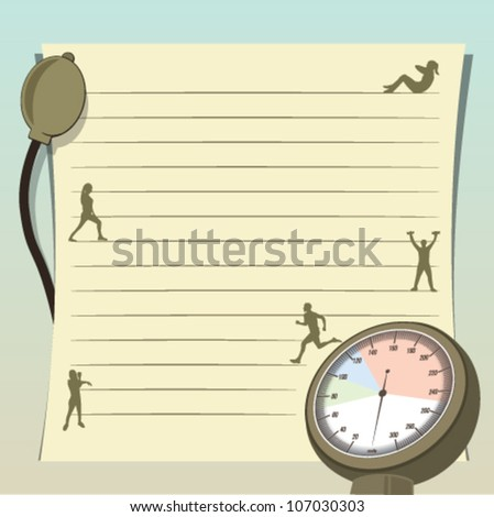 Blood pressure meter_Hypertension - stock vector