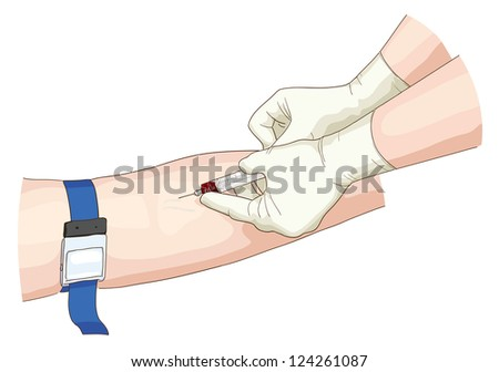 Blood test. Vector illustration. - stock vector