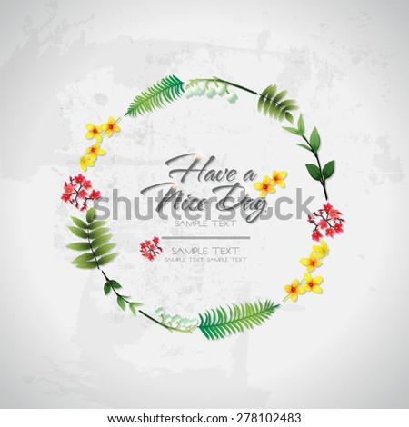 blossom tropical flower background 05 - stock vector
