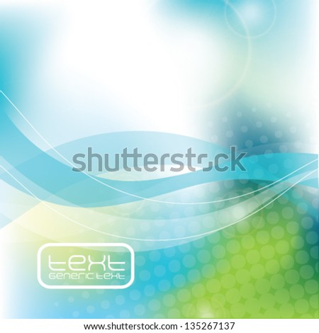 Blue abstract background - trendy business website template with copy space Nice artistic texture with blue color meshes and transparent circle shapes  - stock vector