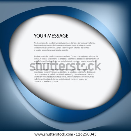 Blue abstract background vector for text and message design on white box for design eps10 - stock vector
