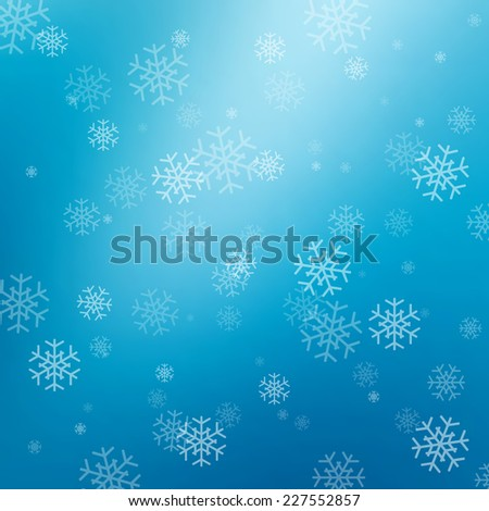 Blue abstract background with snowflakes for your design - stock vector