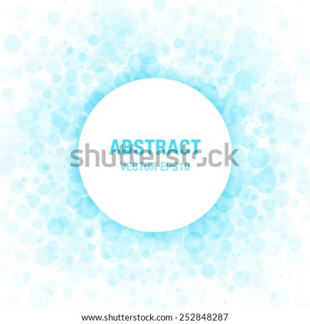 Blue Abstract Circle Frame Design Element, vector illustration  - stock vector