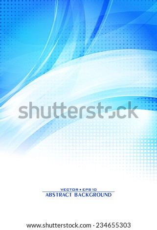 Blue abstract digital pattern. Cover design template layout for corporate brochure, flyer, banner. Vector - stock vector