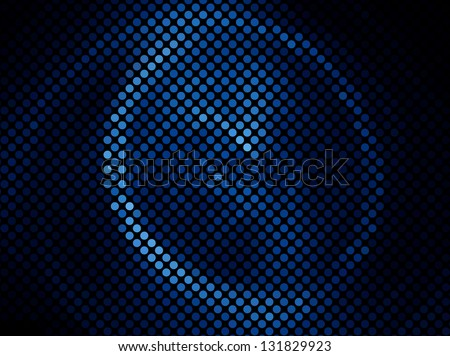 Blue abstract light disco background square pixel mosaic vector eps 10 - stock vector