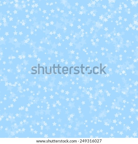 Blue abstract pattern with stars, vector illustration - stock vector
