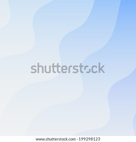 Blue abstract smooth waves creative vector background - stock vector