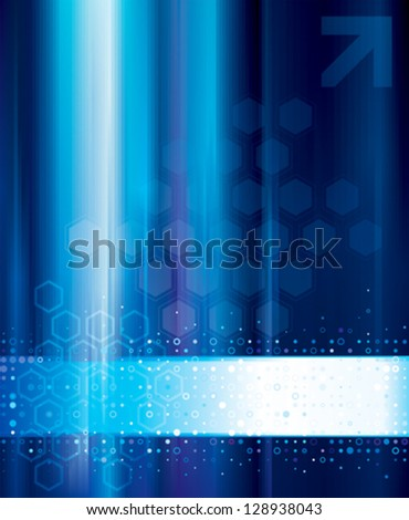 Blue abstract technology digital background. - stock vector
