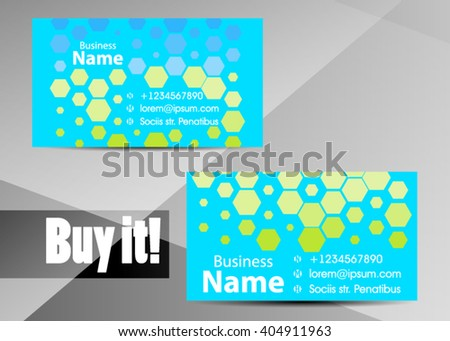 Blue abstract template for card or banner. Metal Background with waves and reflections. Business background, silver, illustration. Illustration of abstract background with a metallic element - stock vector
