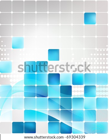 blue abstract vector background - stock vector