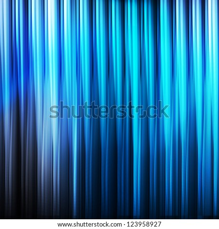 Blue abstract vector background with lines - stock vector