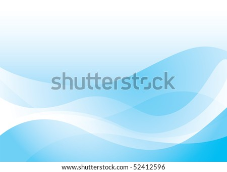 Blue abstract wave background with transparent effect ideal wallpaper - stock vector