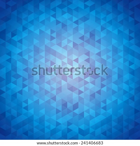 Blue abstraction, composed of blue bricks, different shades. - stock vector
