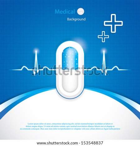 Blue alternative medication concept - Pill vector  - stock vector