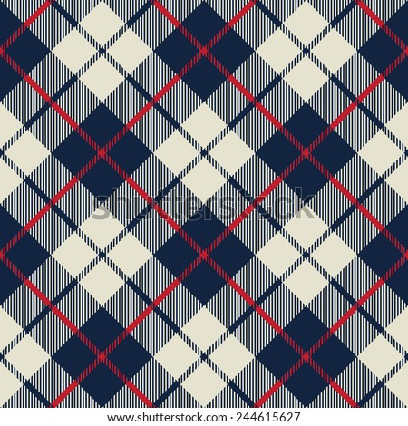 blue and beige fabric texture diagonal little pattern seamless vector illustration - stock vector